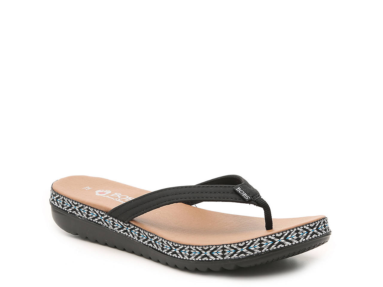 Sunkiss Picnic Party Wedge Flip Flop by Skechers Bobs