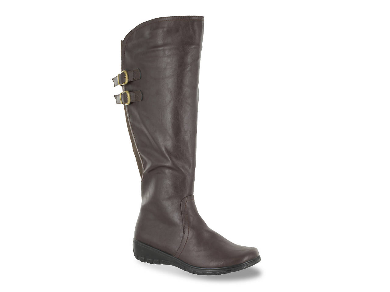 f0a1ccf36a8 Easy Street Tess Plus Wide Calf Riding Boot Women s Shoes