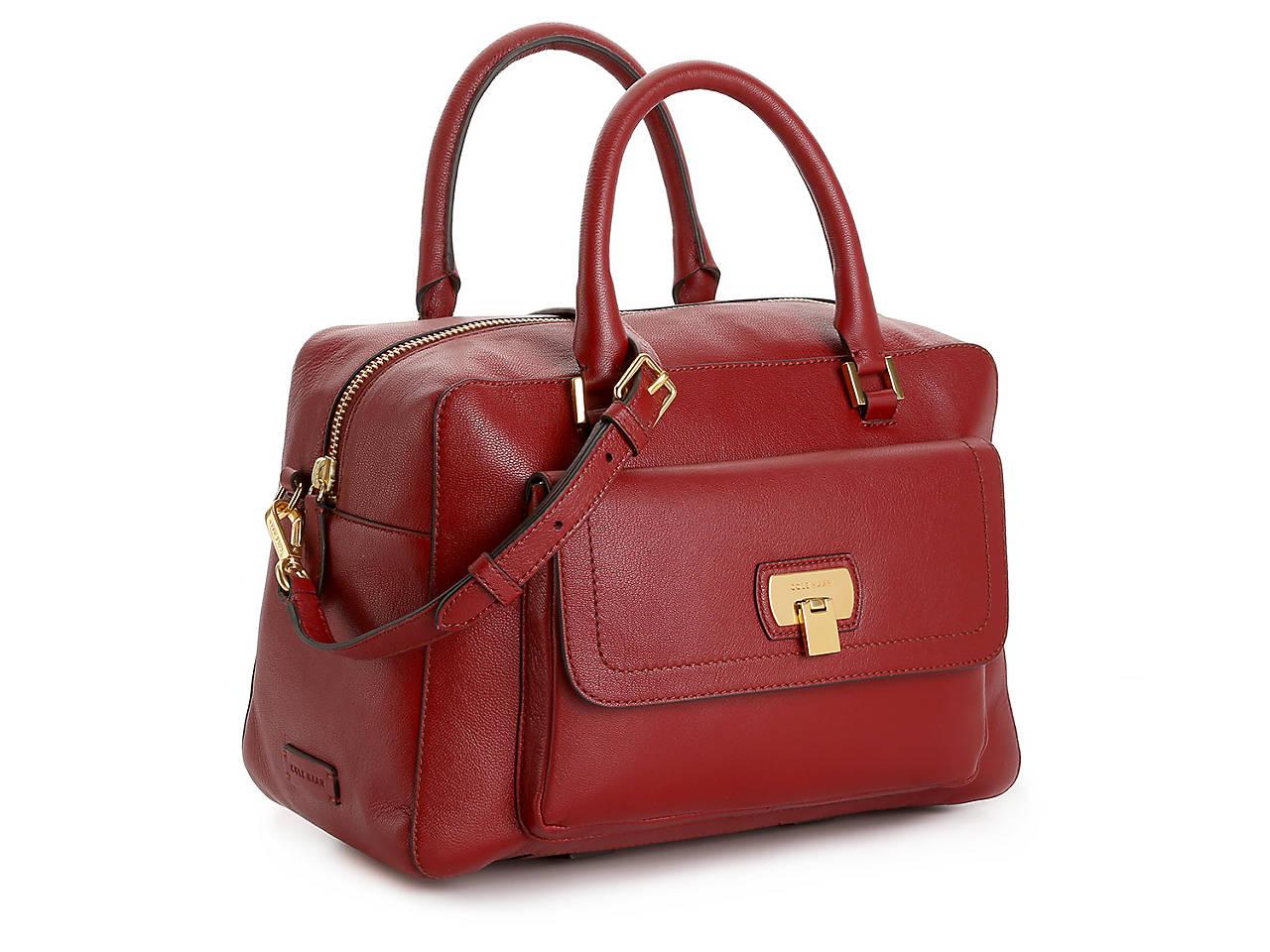 8acb33fb0f9 Cole Haan Hinge Lock Leather Satchel Women's Handbags & Accessories ...