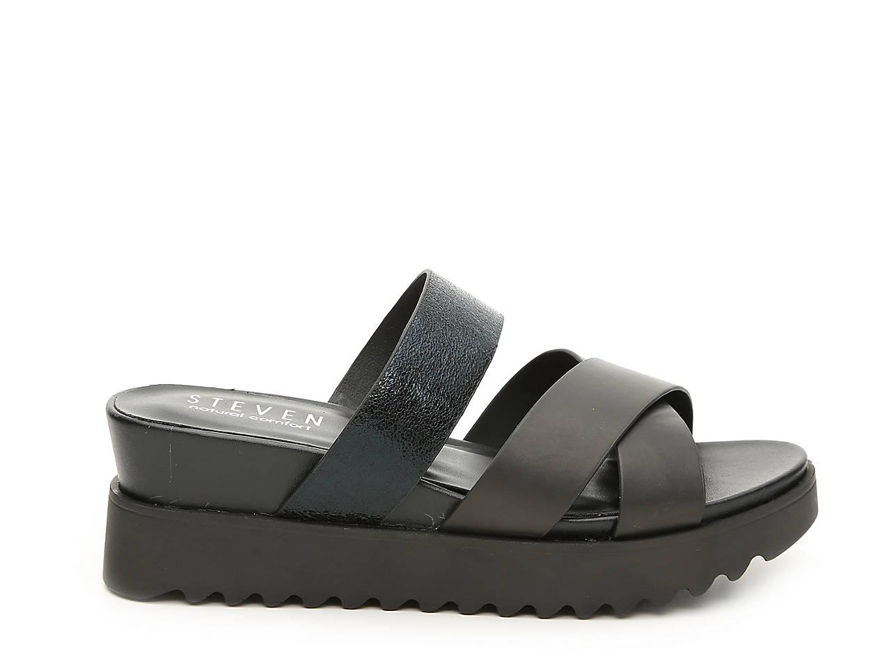75651044258 Steven Natural Comfort Kick Wedge Sandal Women s Shoes