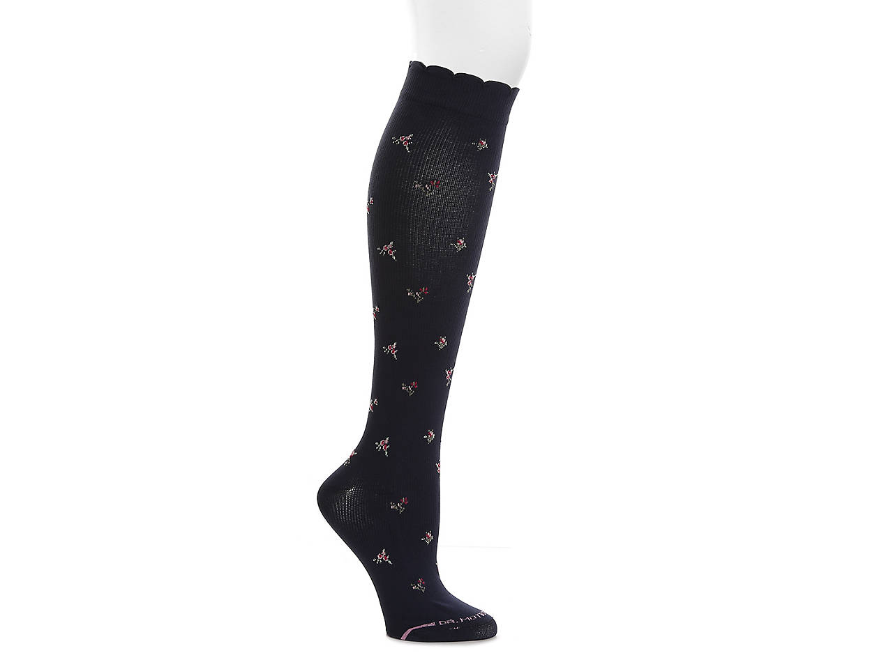 15253dc8eb9 Dr. Motion Ditzy Floral Women s Compression Knee Socks Women s ...