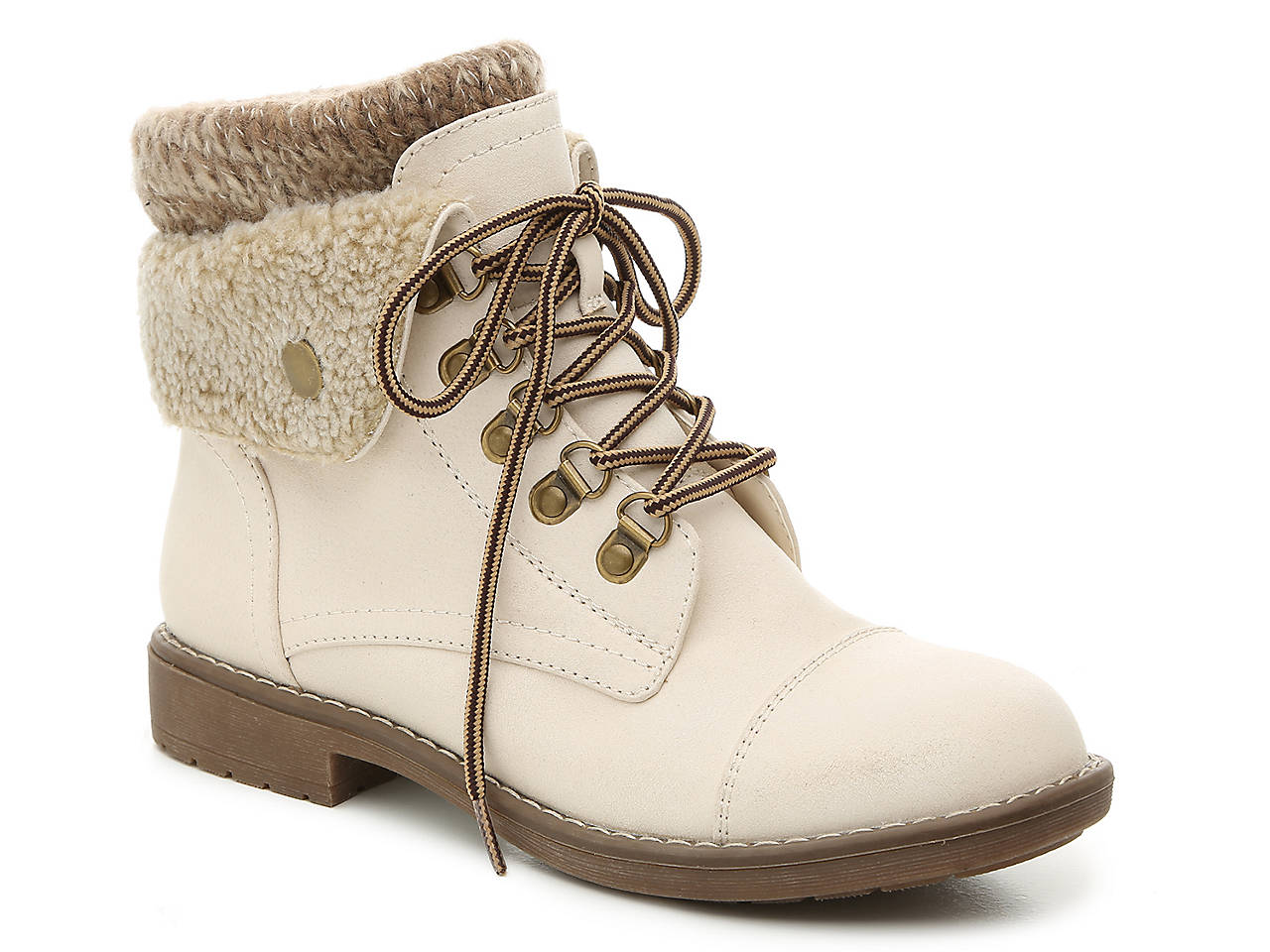 af88f128f Cliffs by White Mountain Downey Combat Boot Women s Shoes