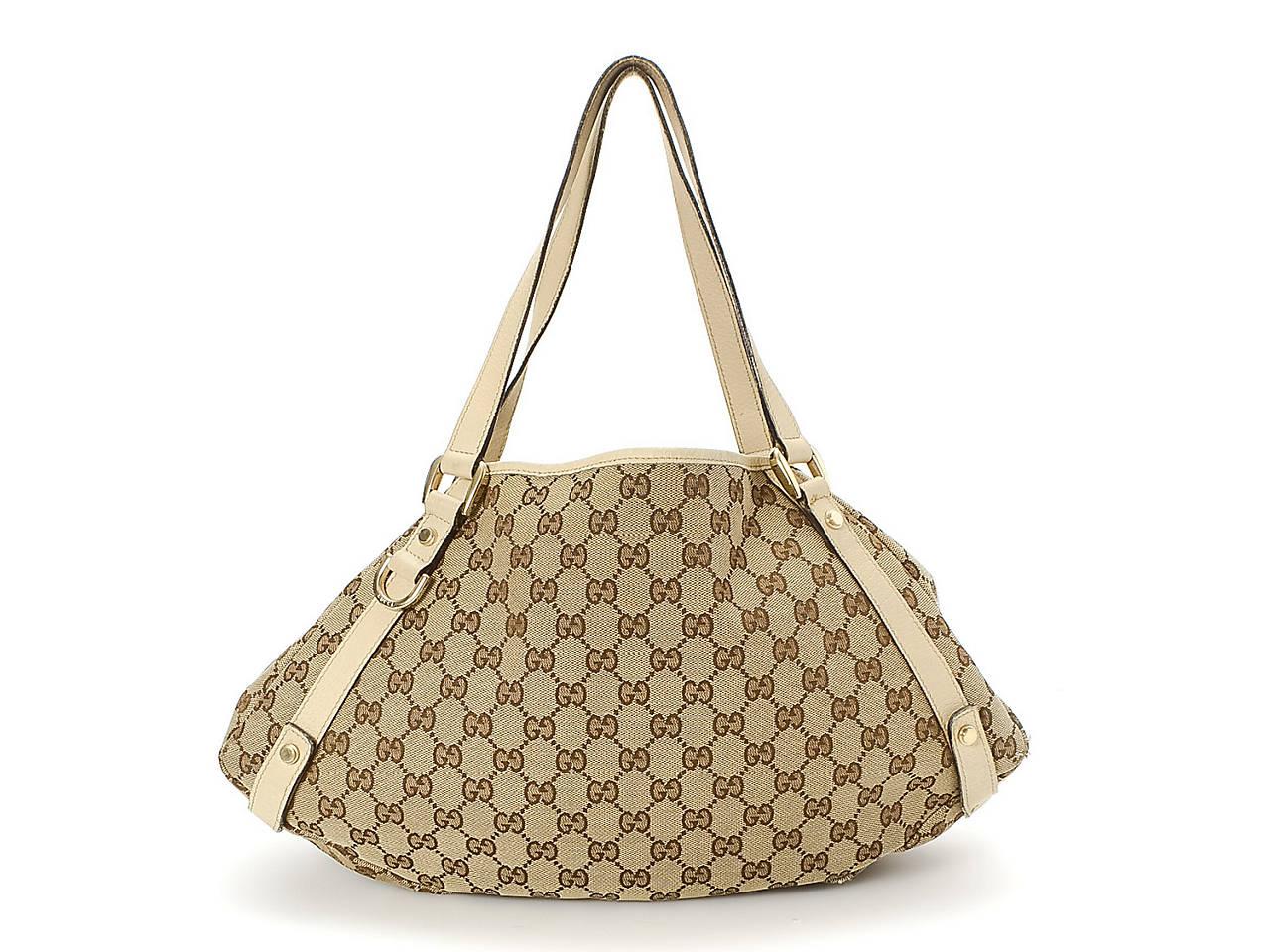 bce34b9b5e1 Gucci - Vintage Luxury Canvas GG Abbey Tote Women s Handbags ...