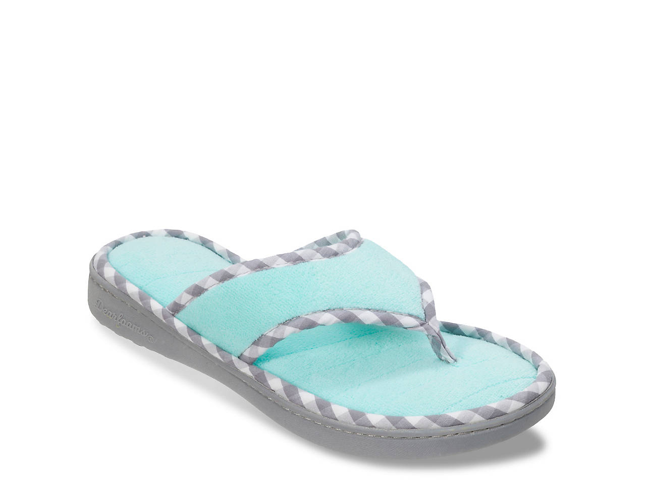 edf70968391 Dearfoams Terry Thong Slipper Women s Shoes