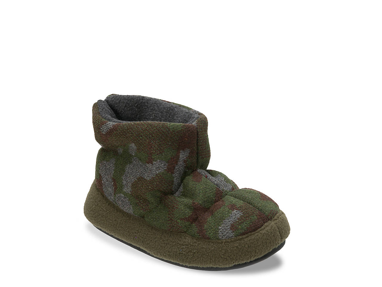 311987a5c Dearfoams Camo   Fleece Toddler   Youth Boot Slipper Kids Shoes