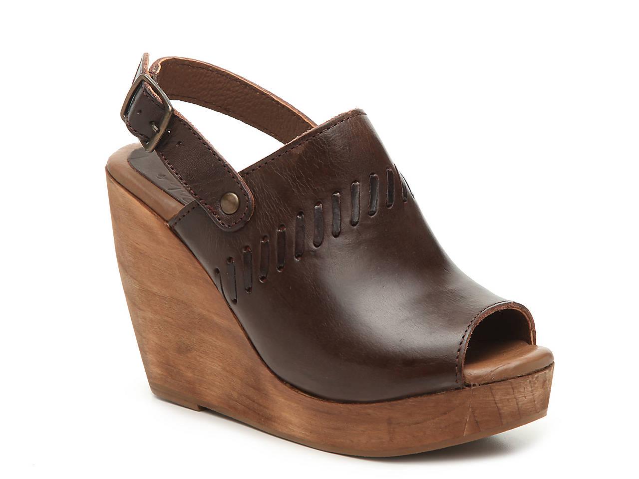 Musse & Cloud Carrie Slingback Wooden Wedge Mules lNSG07
