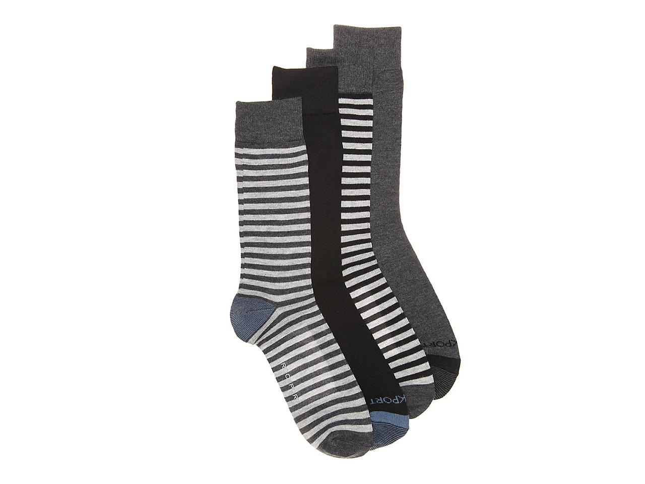 Stripe Men S Crew Socks 4 Pack