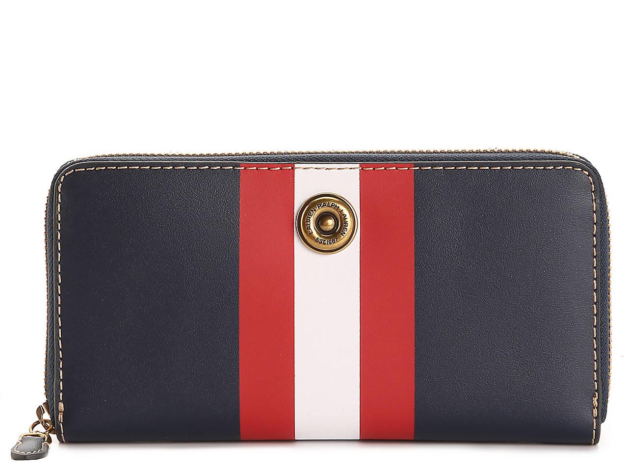 89fa370f46c2 Lauren Ralph Lauren Millbrook Leather Wallet Women s Handbags ...