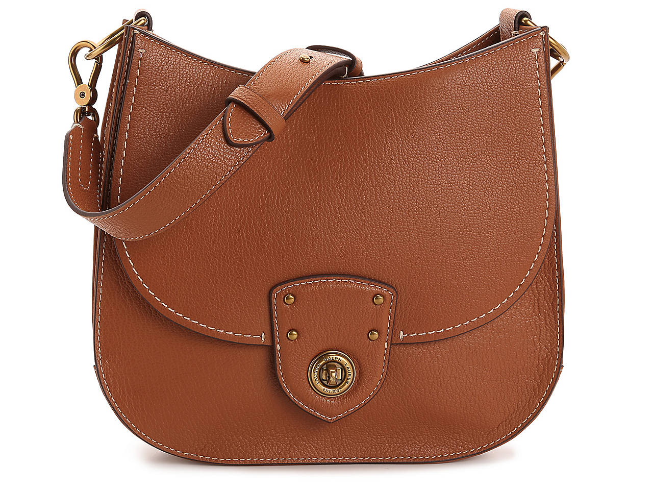 Lauren Ralph Lauren Millbrook Convertible Leather Shoulder Bag ... cd8c1359a45