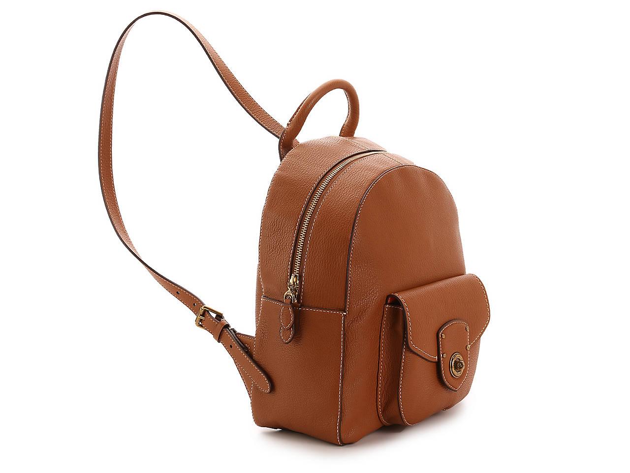 d114fadbb203 Lauren Ralph Lauren Millbrook Leather Backpack Women s Handbags ...