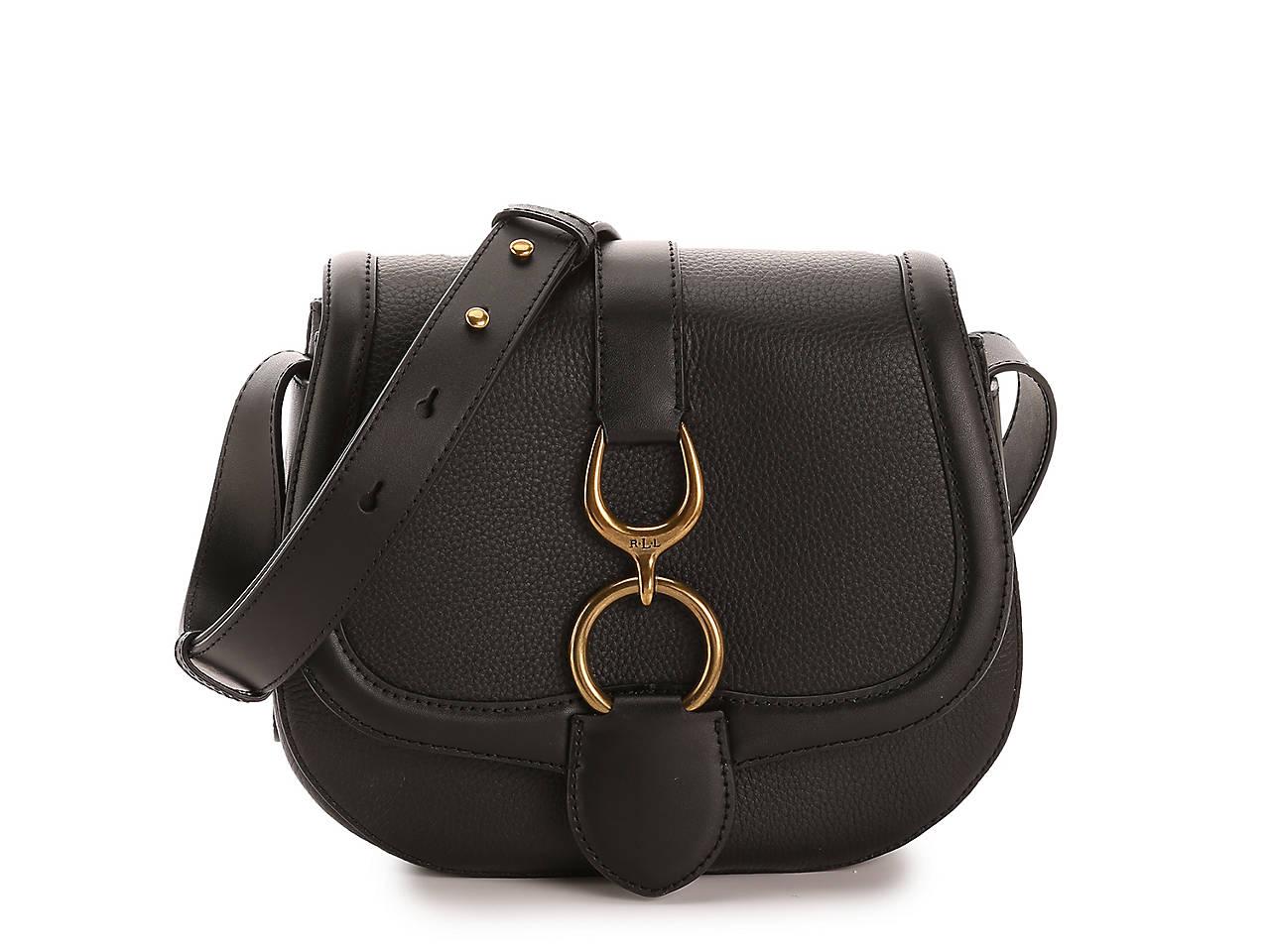 450bf7c27145 Lauren Ralph Lauren Barrington Leather Crossbody Bag Women s ...