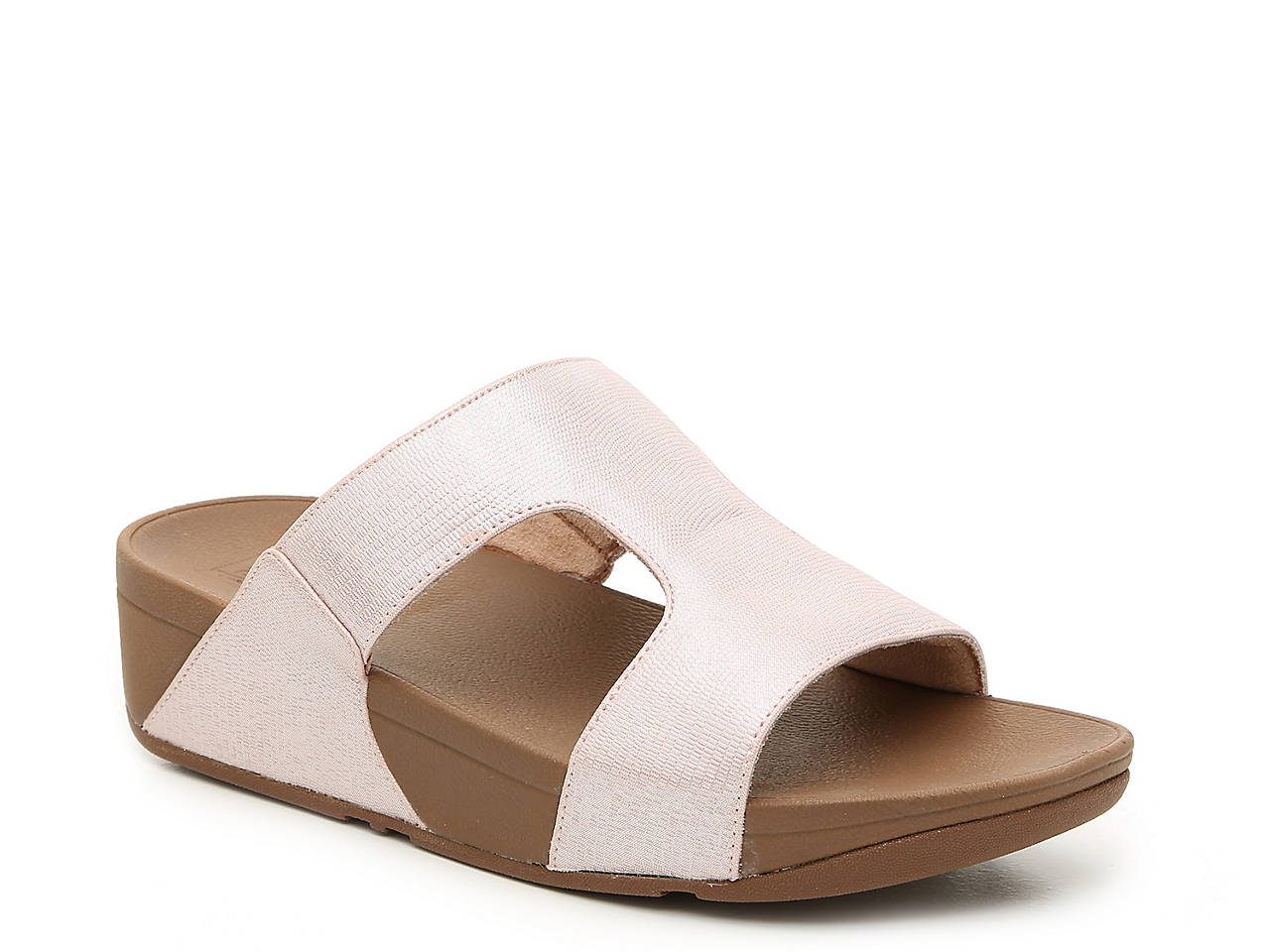 5e64287ae FitFlop H-Bar Shimmer Wedge Sandal Women s Shoes