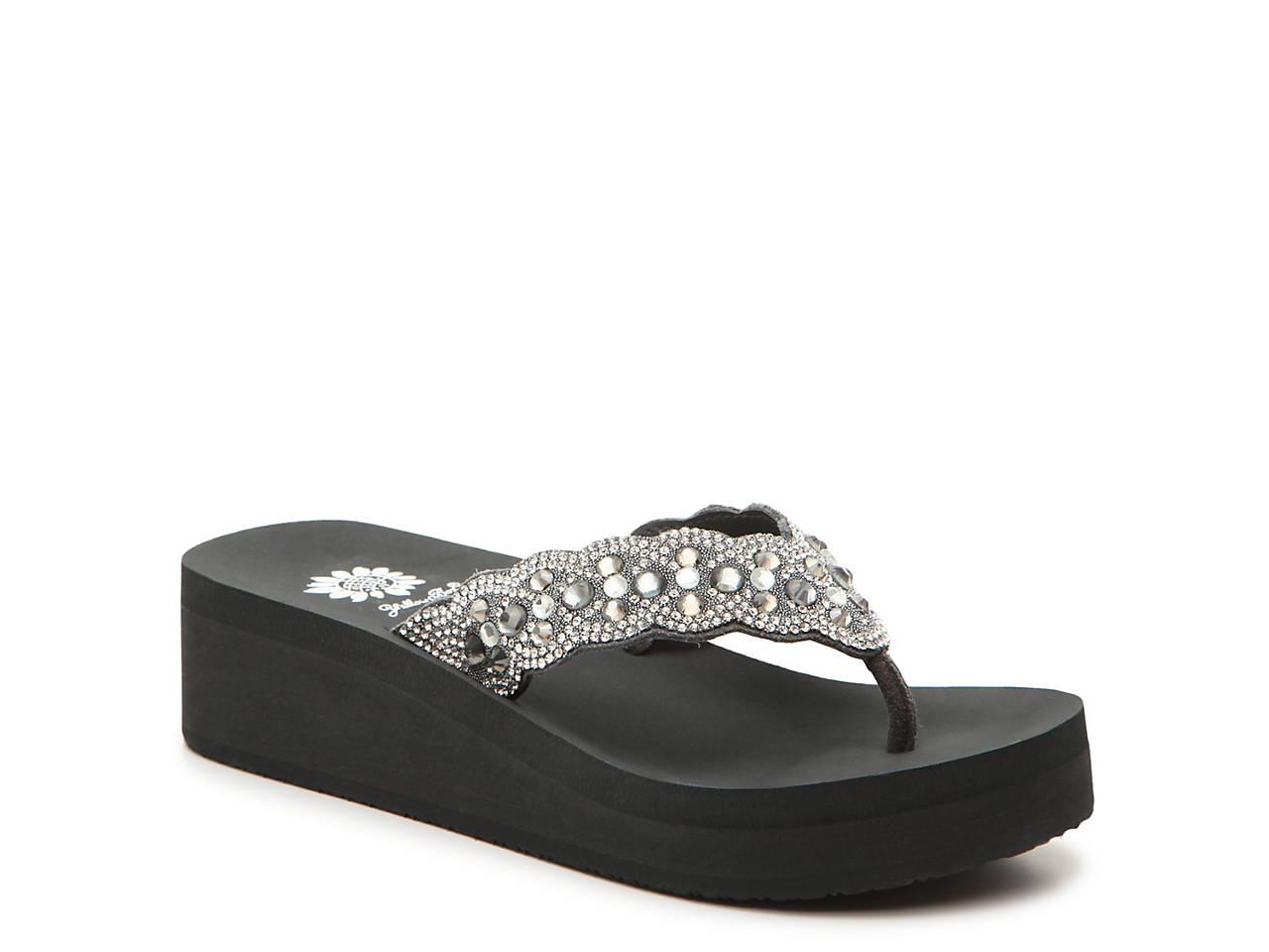 b38798a1b1c5 Yellow Box Rubie Wedge Flip Flop Women s Shoes