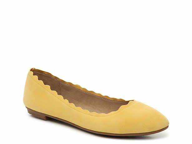 8fbc660d8bfc Yellow. Round. Ballet. Flats. Kelly   Katie