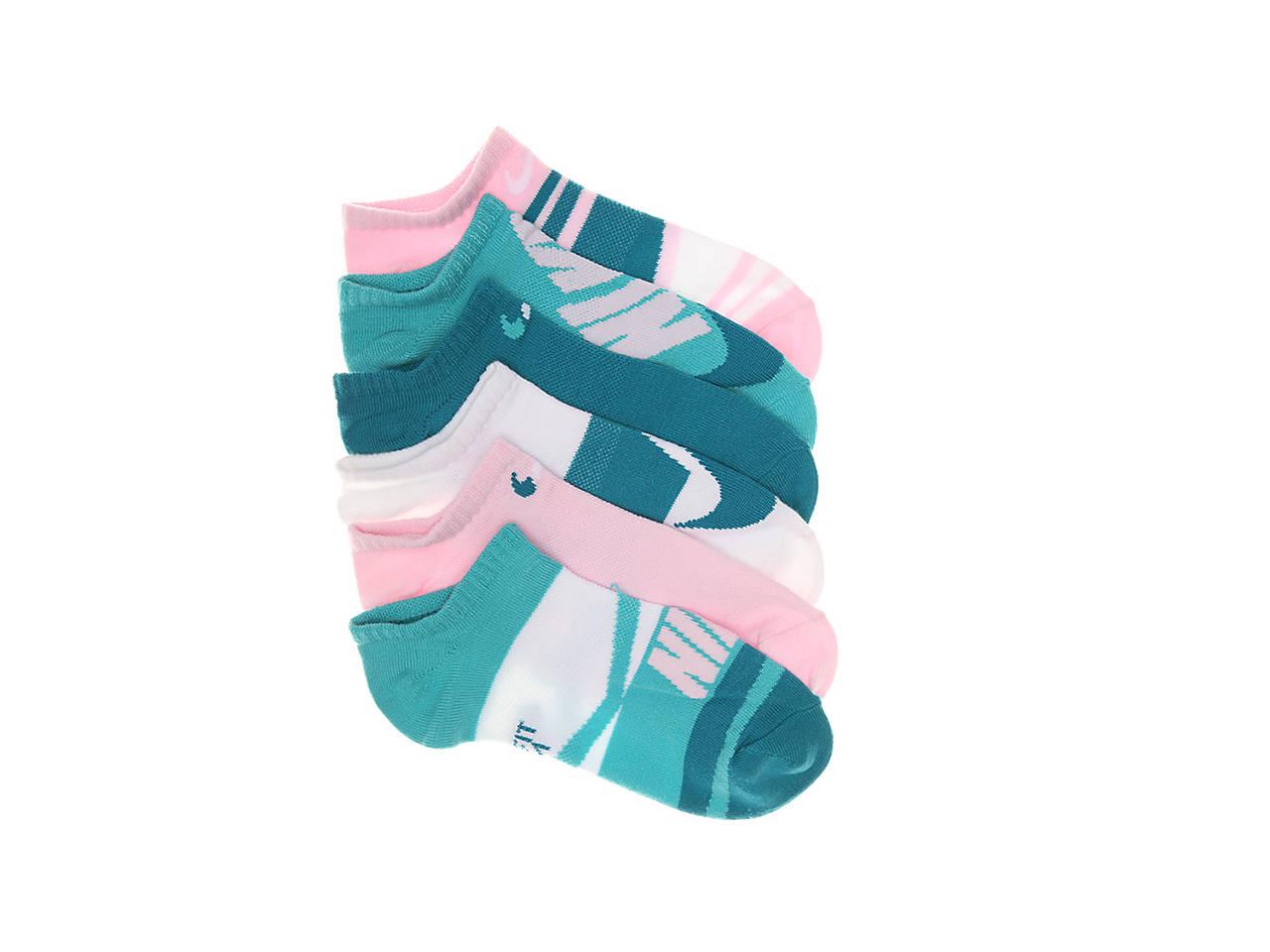 Lightweight Kids' No Show Socks 6 Pack