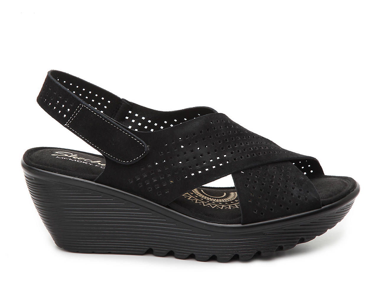 2d9760fa17 Skechers Parallel Infrastructure Wedge Sandal Women's Shoes | DSW