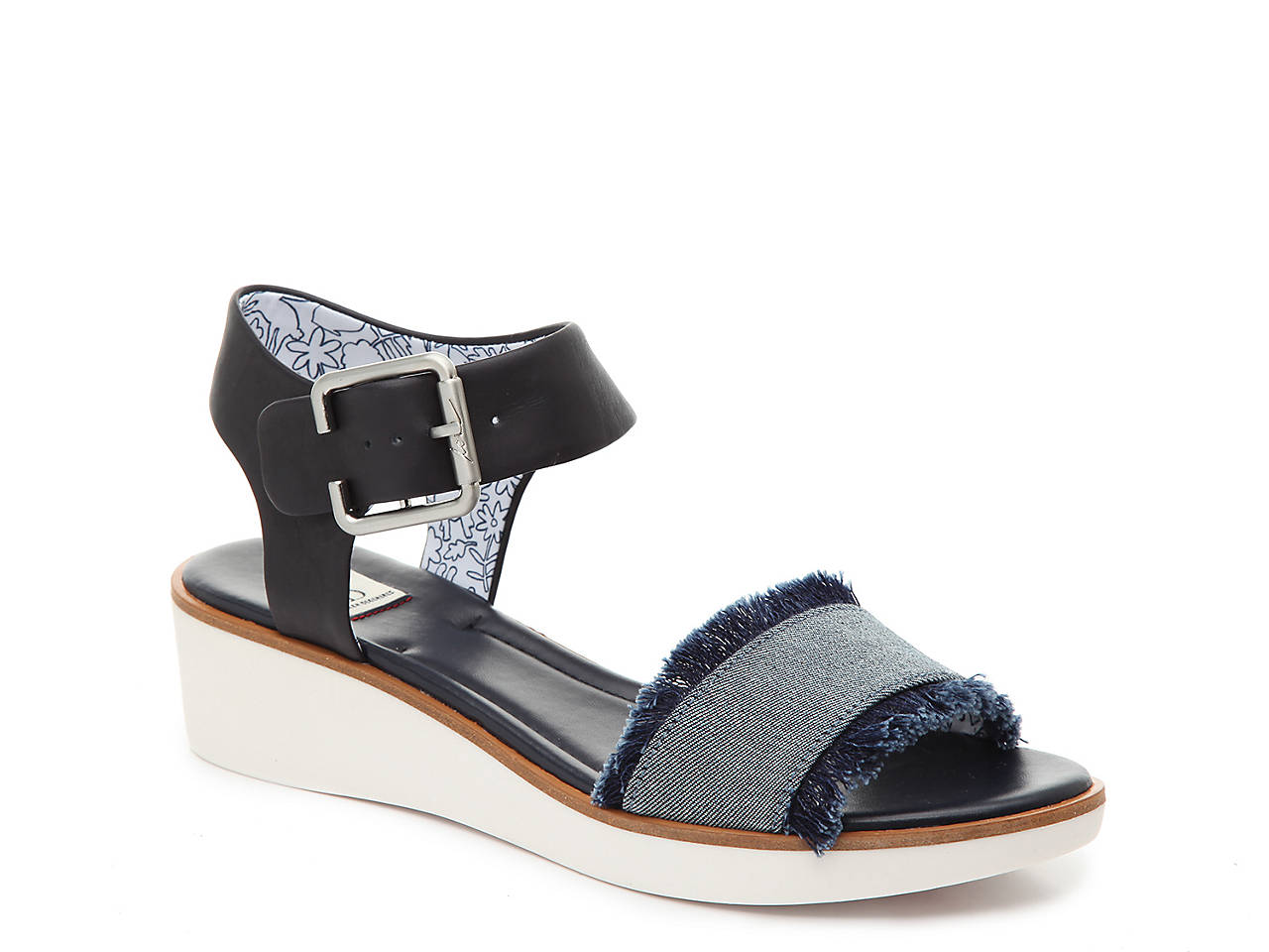 65e071b29cd ED Ellen DeGeneres Satiana Wedge Sandal Women s Shoes
