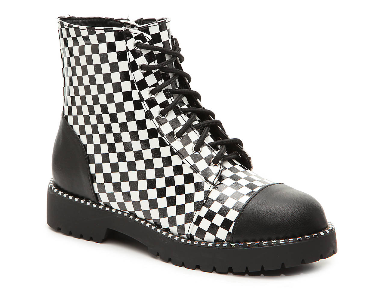 dcb14890b Bamboo Direct Cap Toe Combat Boot Women s Shoes
