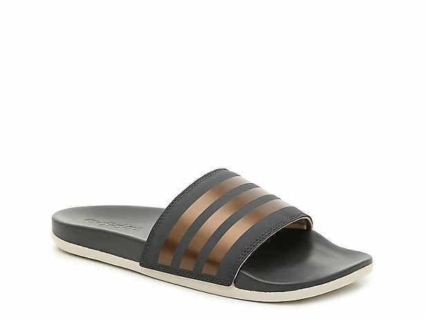 7522c504a adidas Adilette Cloudfoam Ultra Stripes Slide Sandal - Women s ...