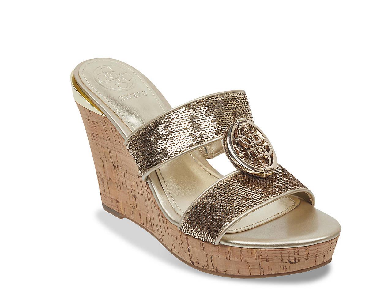 af435a11a83d Guess Beanca Wedge Sandal Women s Shoes