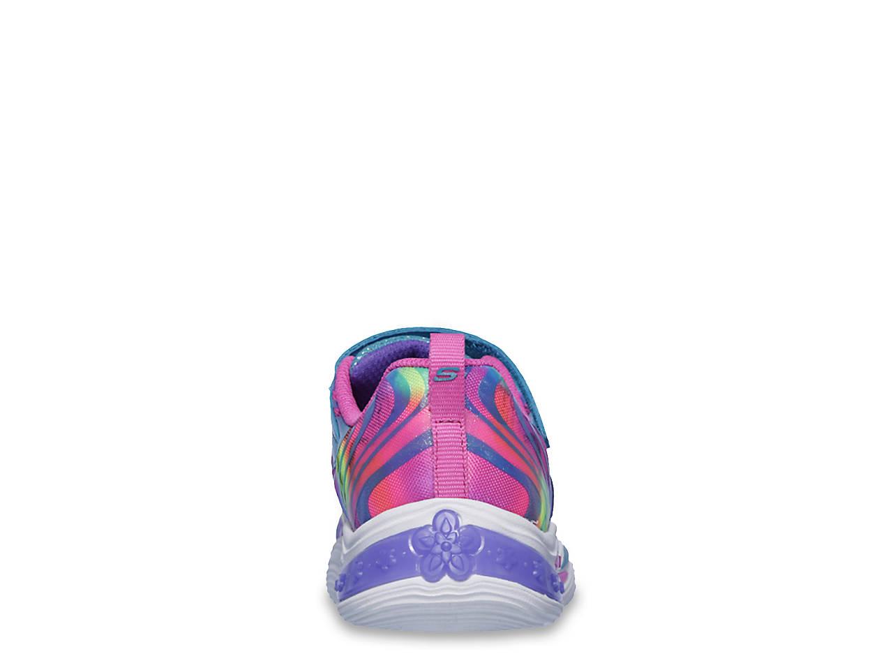 7fd90a9f1982 Skechers S Lights Power Petals Light Up Toddler   Youth Sneaker Kids ...