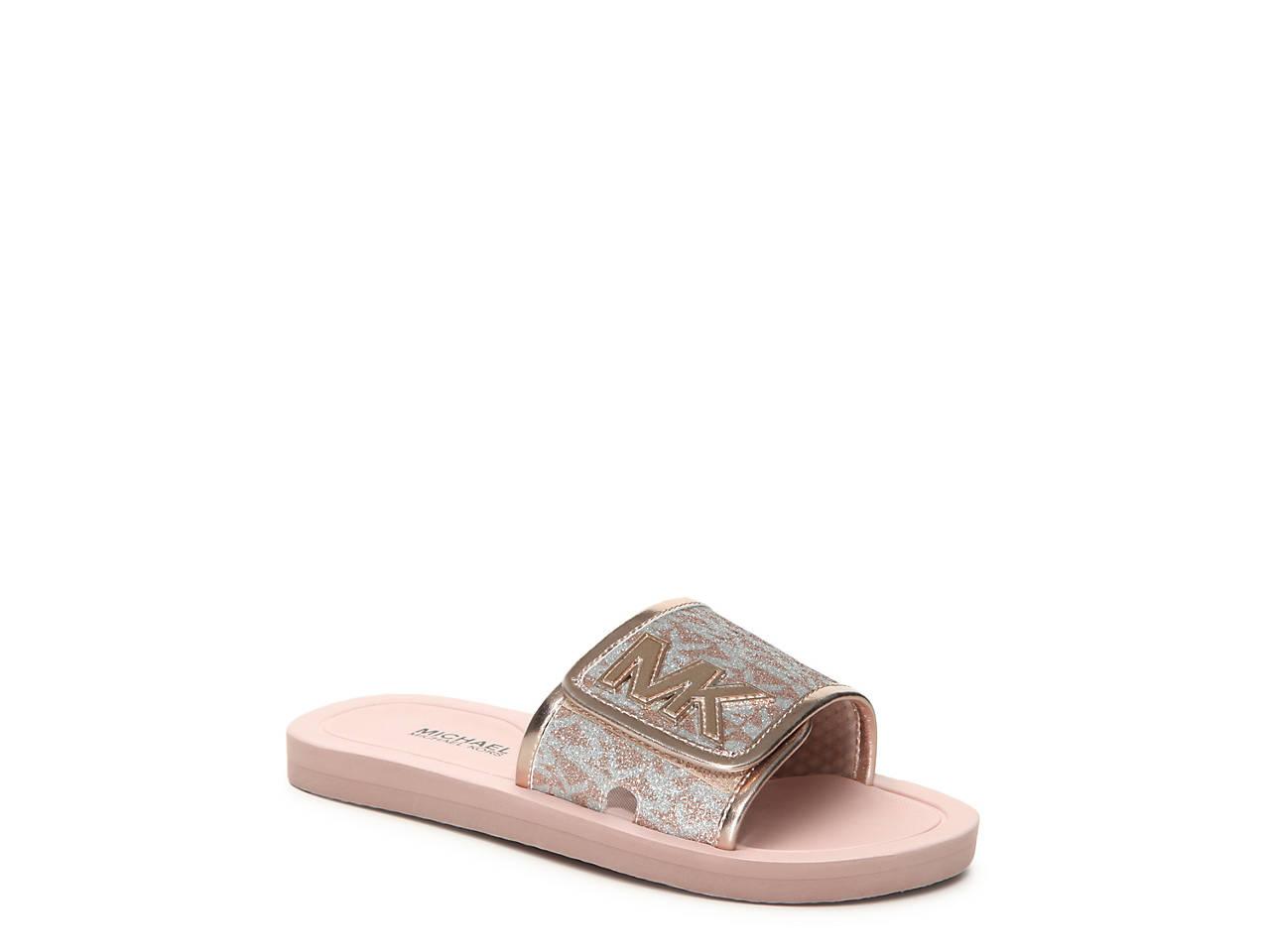 9192d116bd55 Michael Michael Kors Eli Seneca Toddler   Youth Slide Sandal Kids ...