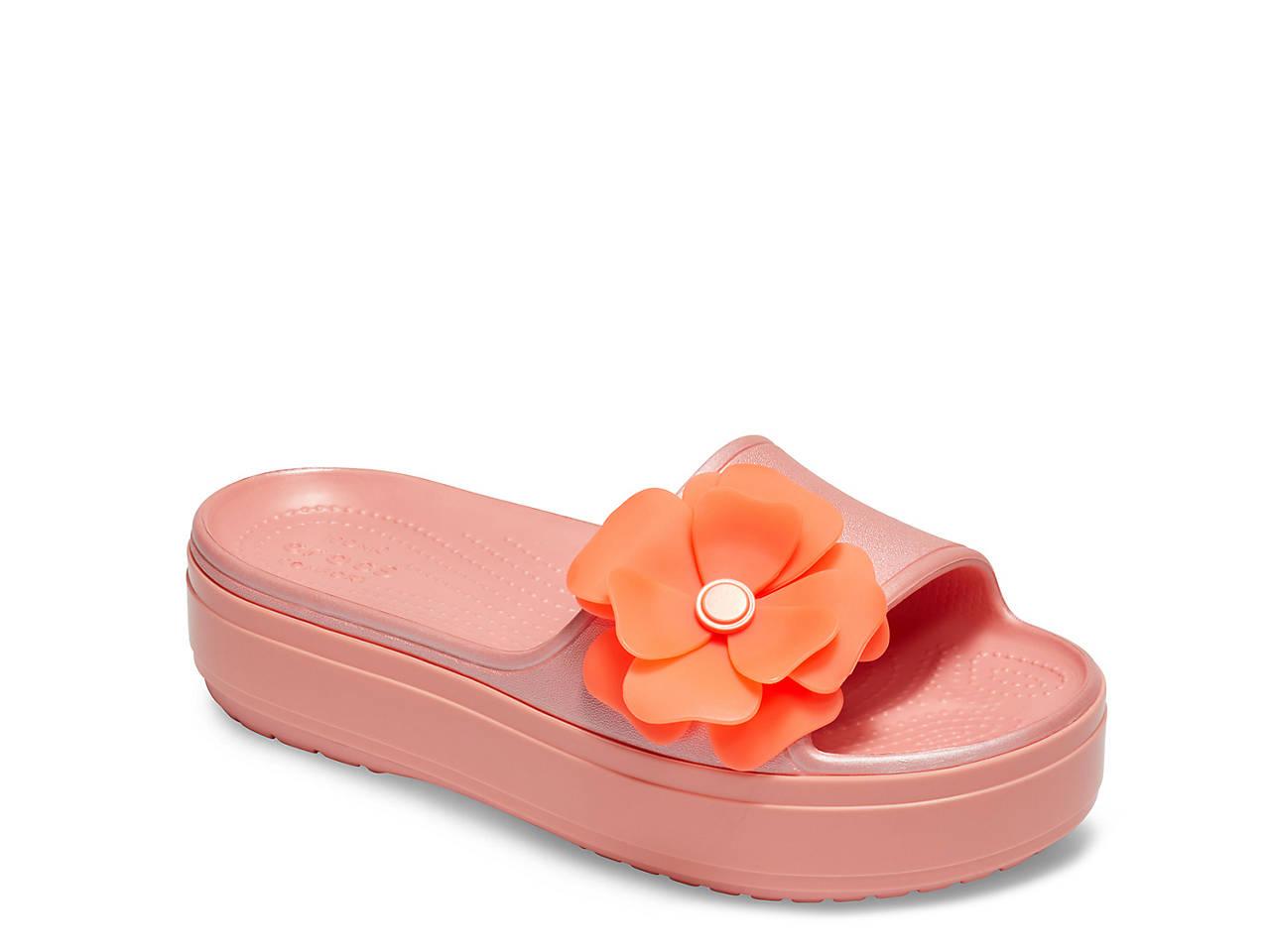 29fb93773 Crocs CB Vivid Blooms Platform Slide Sandal Women s Shoes