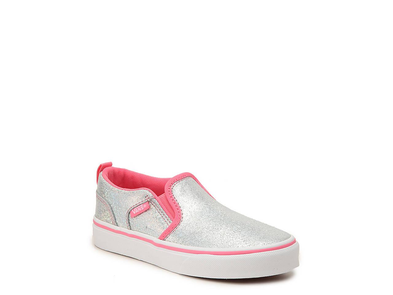 e28447ad87 Vans Asher Toddler   Youth Slip-On Sneaker Kids Shoes