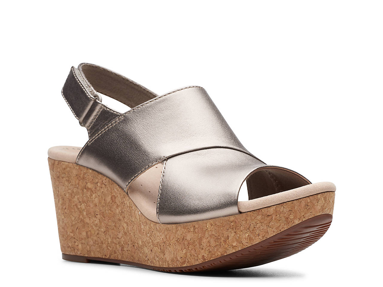 5cb8606fe0b Clarks Annadel Sky Wedge Sandal Women s Shoes