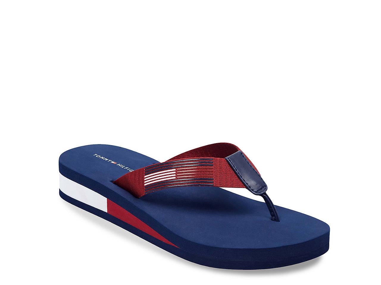 ce3bdfebf1f Tommy Hilfiger Natili Wedge Flip Flop Men s Shoes