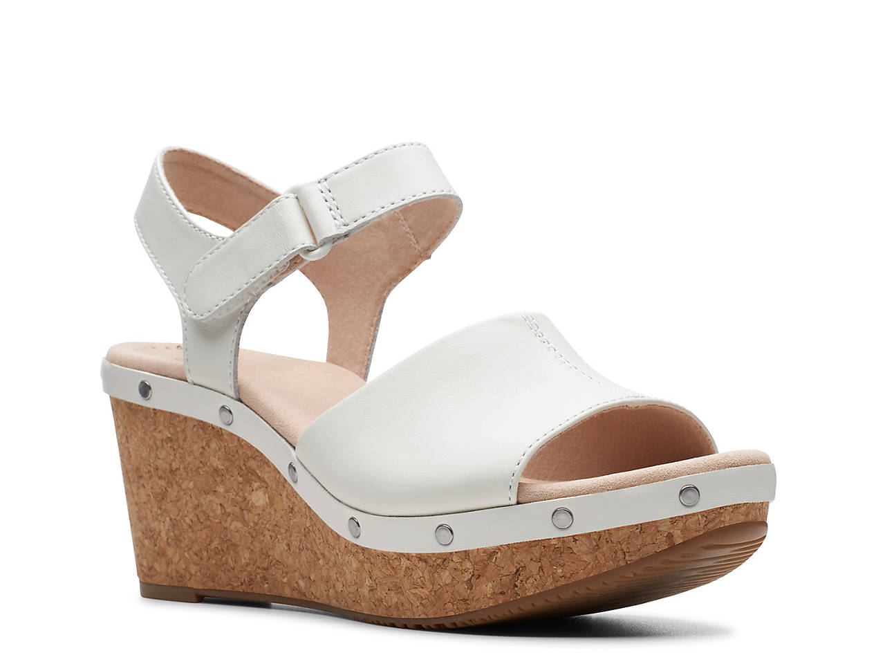 7785a31b5aa Clarks Annadel Clover Wedge Sandal Women s Shoes