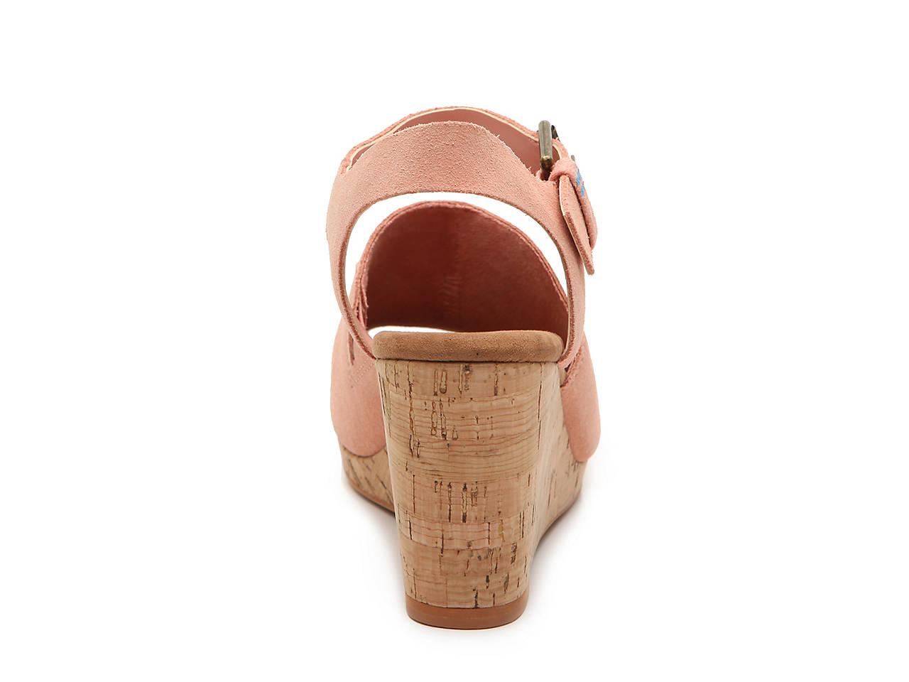 aab5eeb03d18 TOMS Tropez Wedge Sandal Women s Shoes