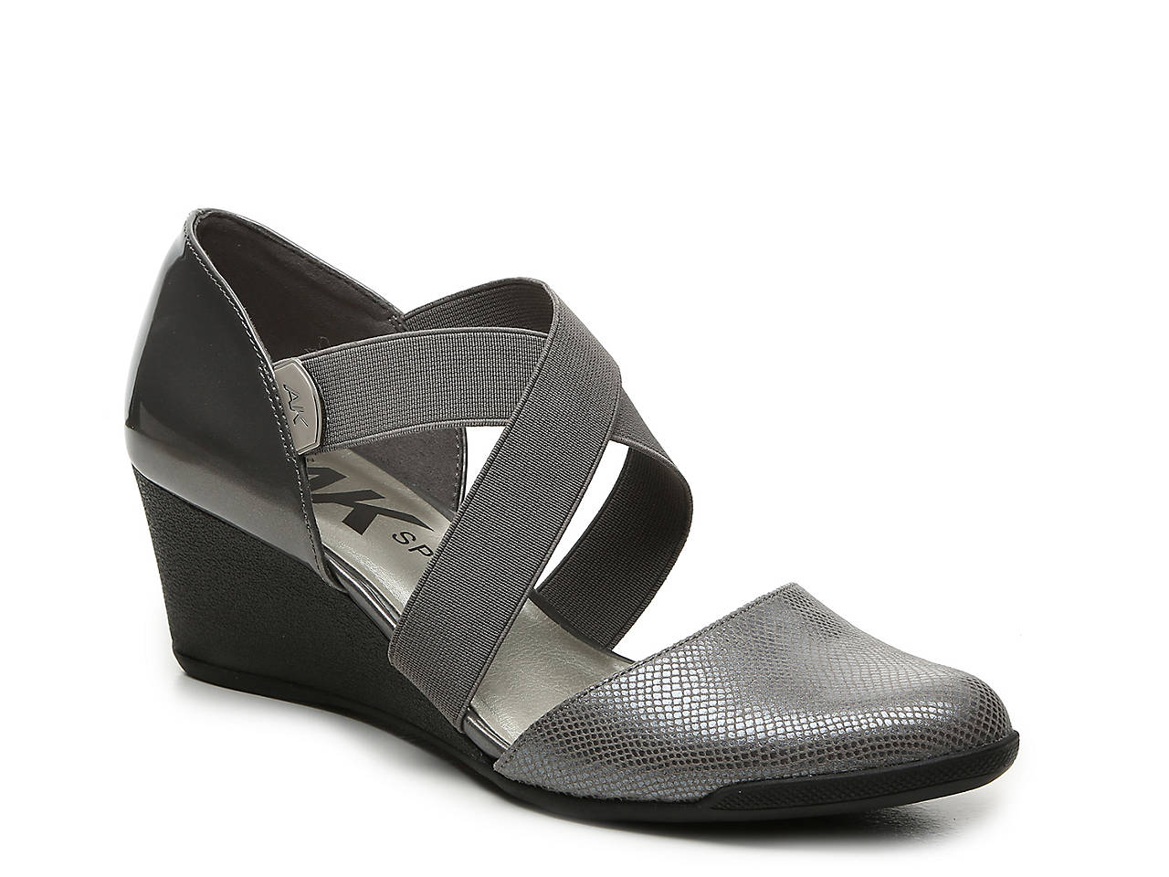 7bbd5ef9ff8 Anne Klein Sport Teaberry Wedge Pump Women s Shoes