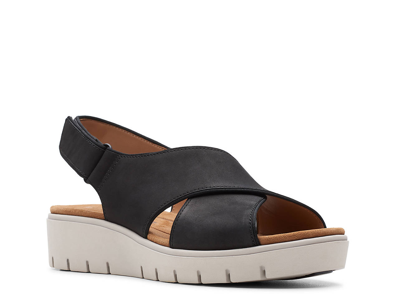 Clarks Unstructured Un.Karely Sun Wedge Sandal Women s Shoes