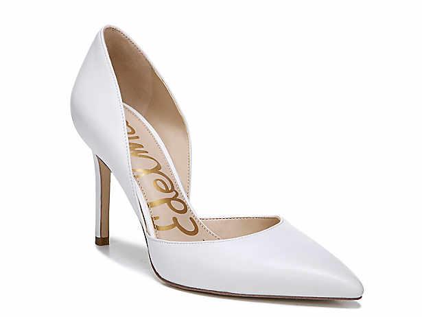 White. Dress. Pumps. Sandals. Sam Edelman 7d43433093