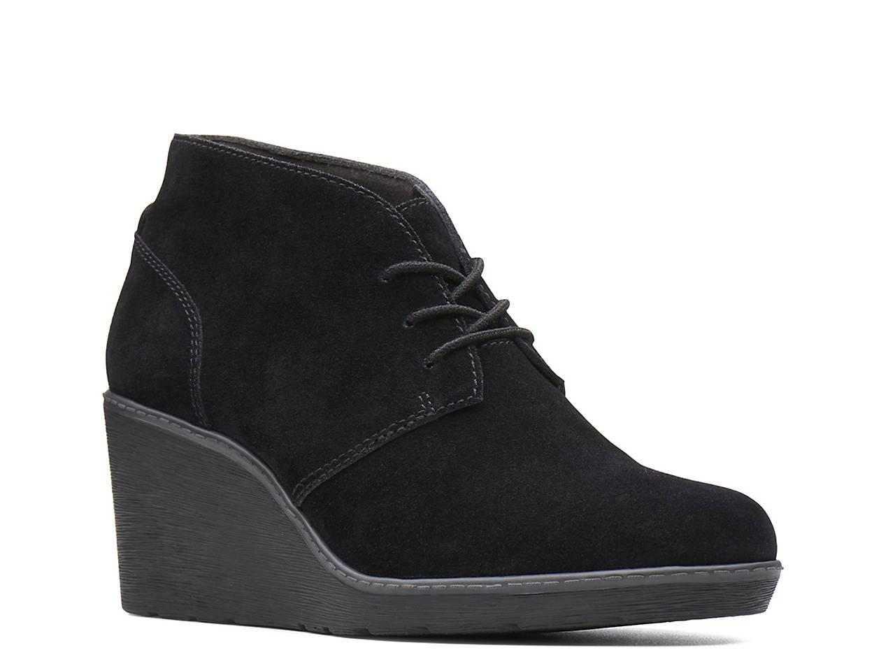 685194c3645 Clarks Hazen Charm Wedge Bootie Women s Shoes