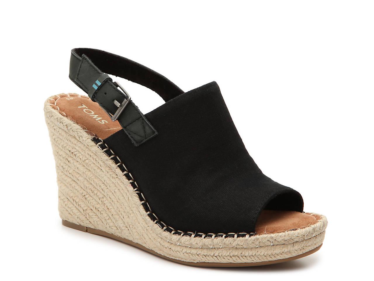 fe8901836ae TOMS Monica Espadrille Wedge Sandal Women s Shoes