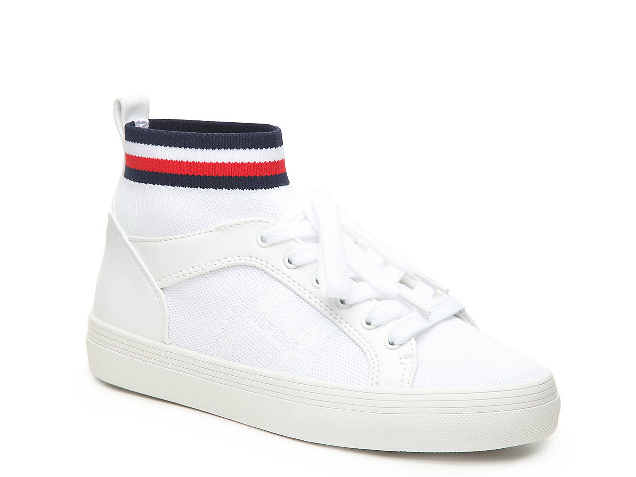 24052f274faacd Tommy Hilfiger Fether High-Top Sneaker Women s Shoes