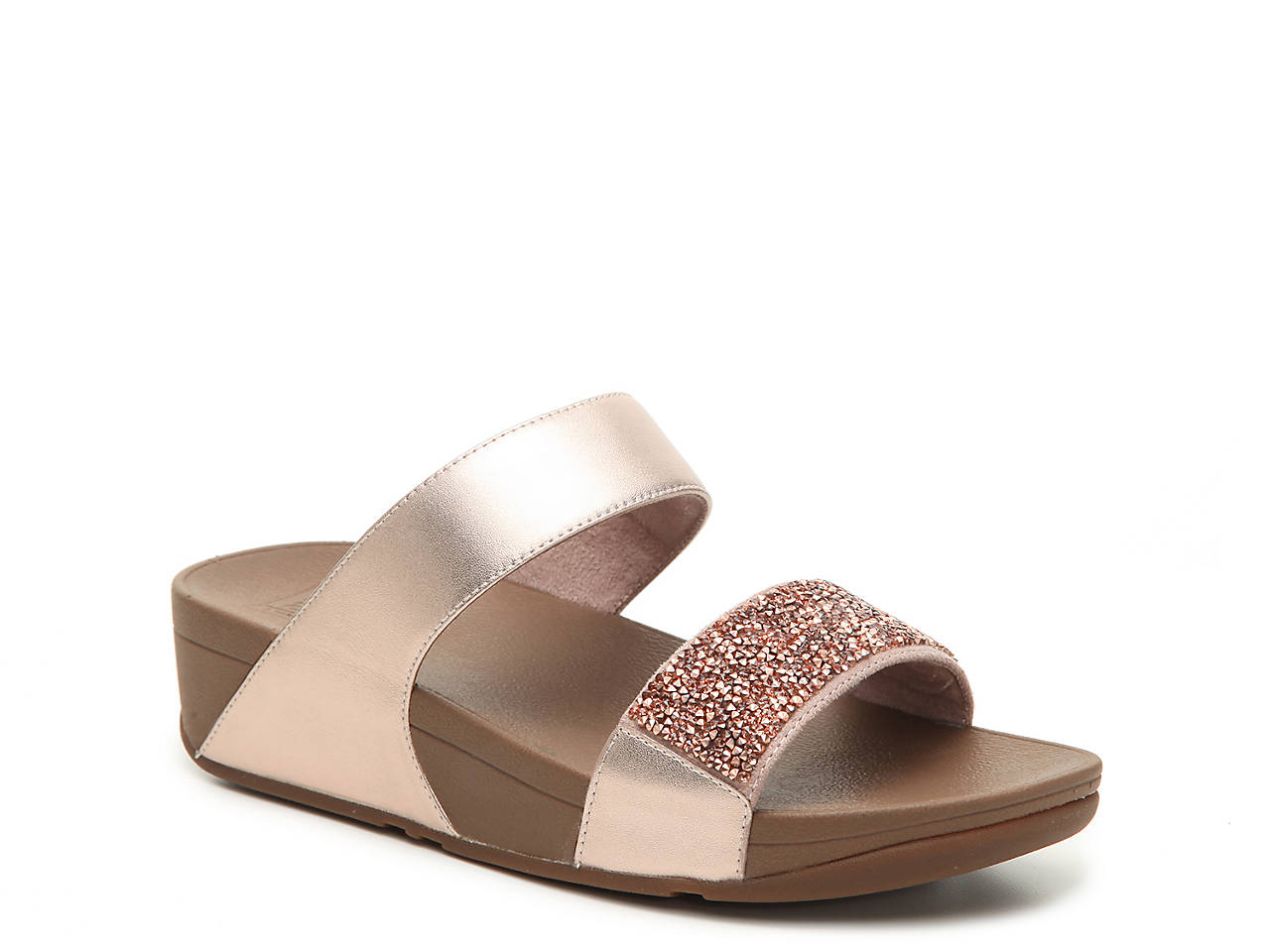99c6e77e95283b FitFlop Sparkle Crystal Wedge Sandal Women s Shoes