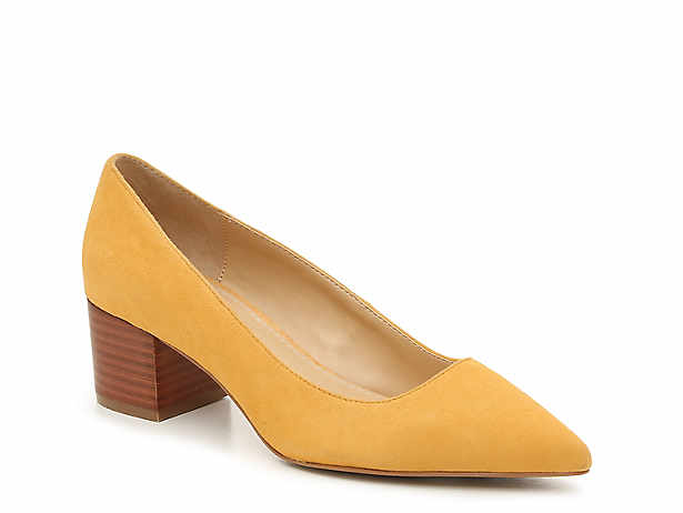Yellow Dress Pumps Sandals Crown Vintage