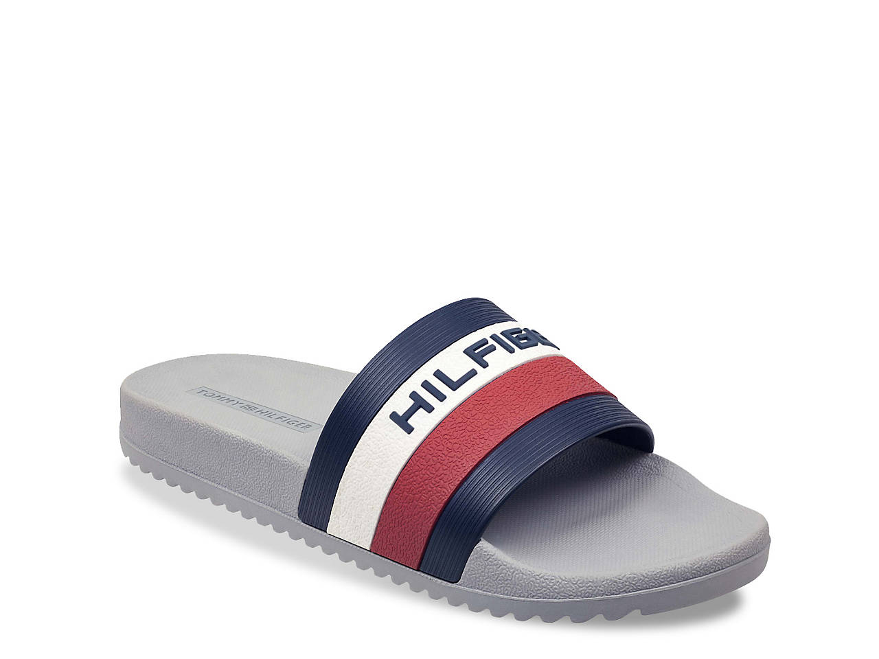 3a9b4a09c Tommy Hilfiger Raj Stripe Slide Sandal - Men s Men s Shoes