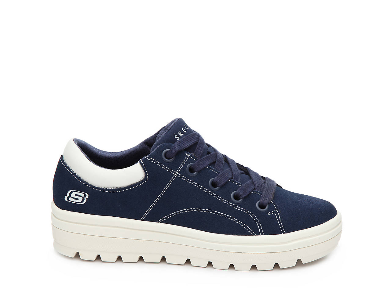 9ec98ef32e53 Skechers Street Cleat Back Again Platform Sneaker Women s Shoes