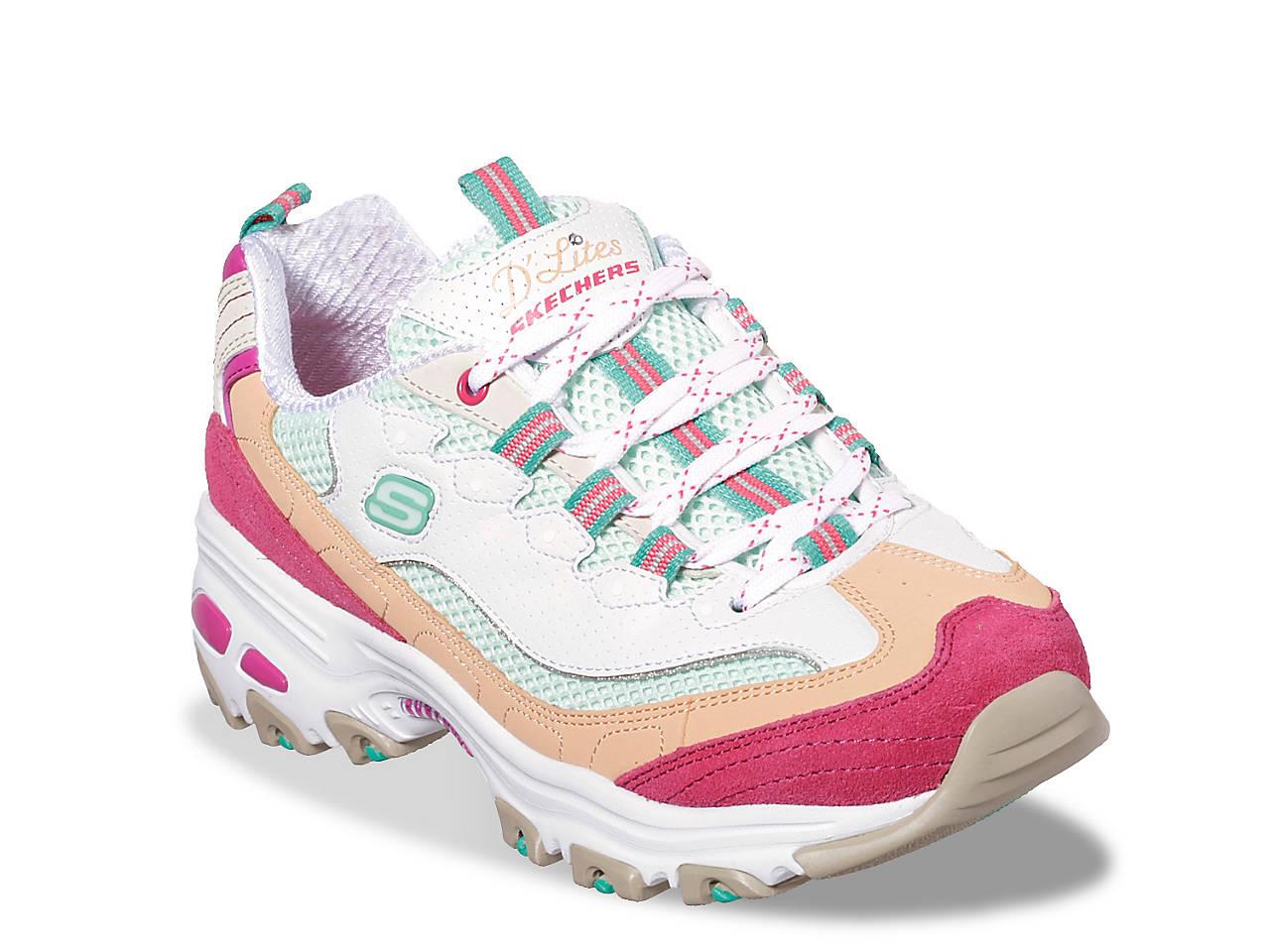skechers multi colored sneakers