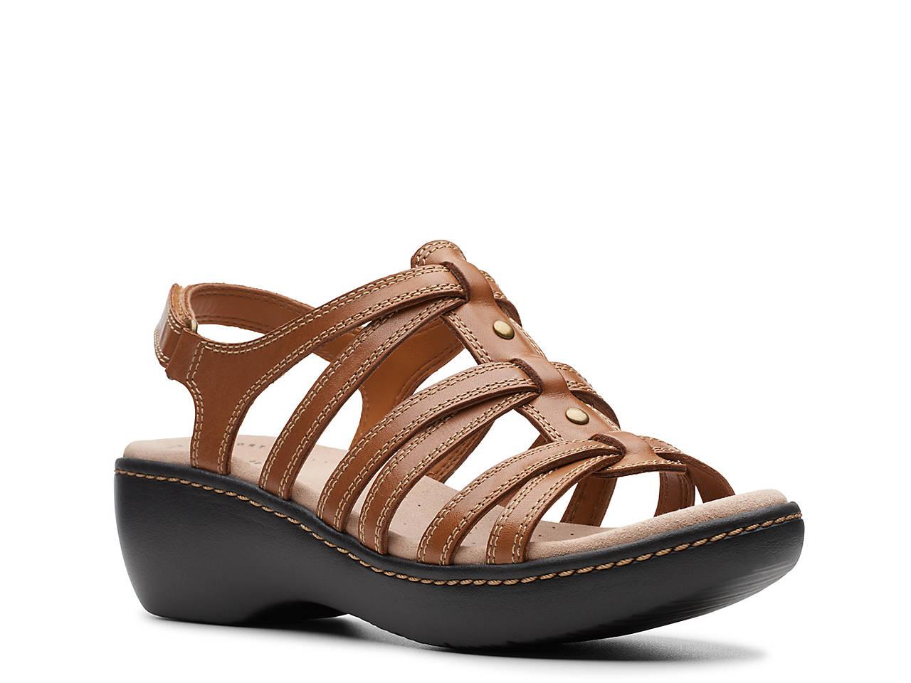 e1b6ff782f1 Clarks Delana Curve Wedge Sandal Women s Shoes