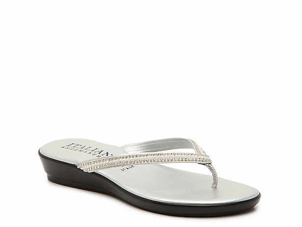 b1c08ccccb4 Women s Silver Wedge Sandals