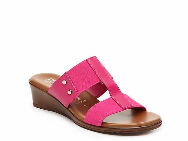af5522d7d578 Italian Shoemakers. Kala Wedge Sandal