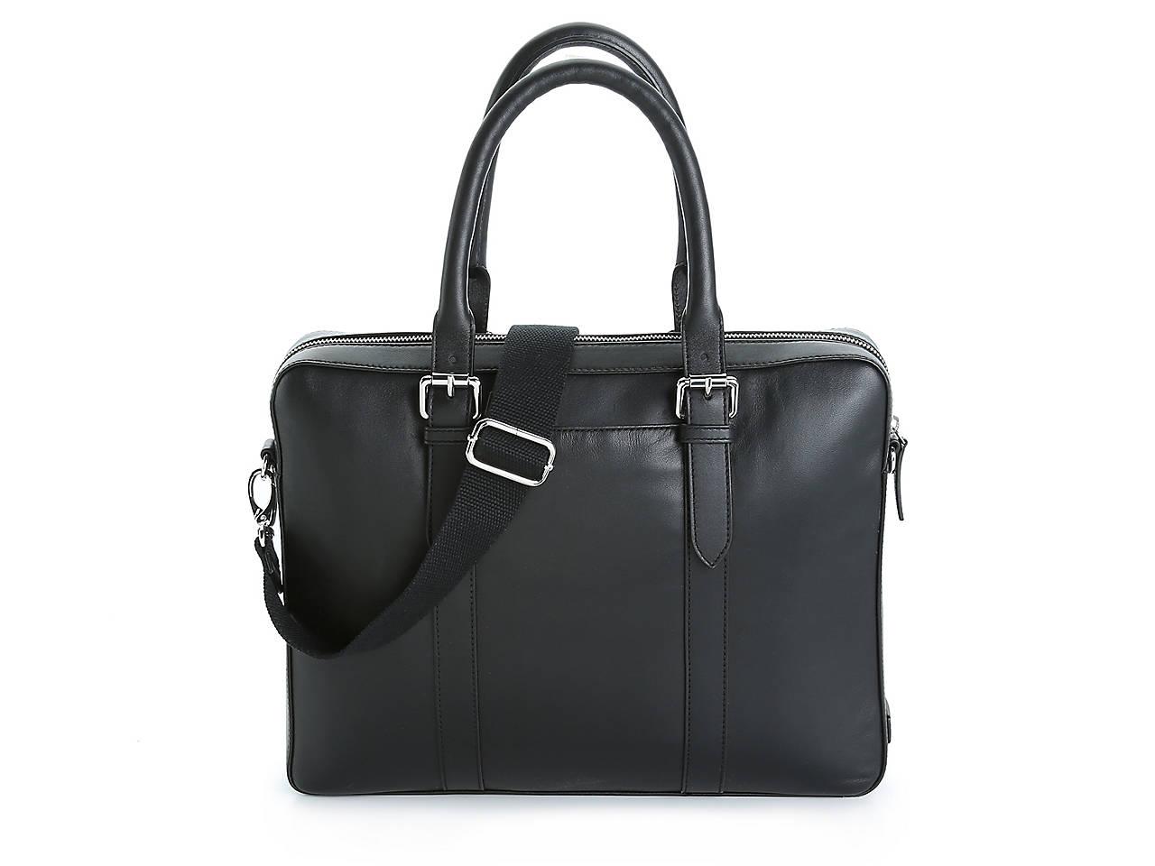 09dca0acbc Cole Haan Buckle Leather Laptop Messenger Bag Men's Handbags ...