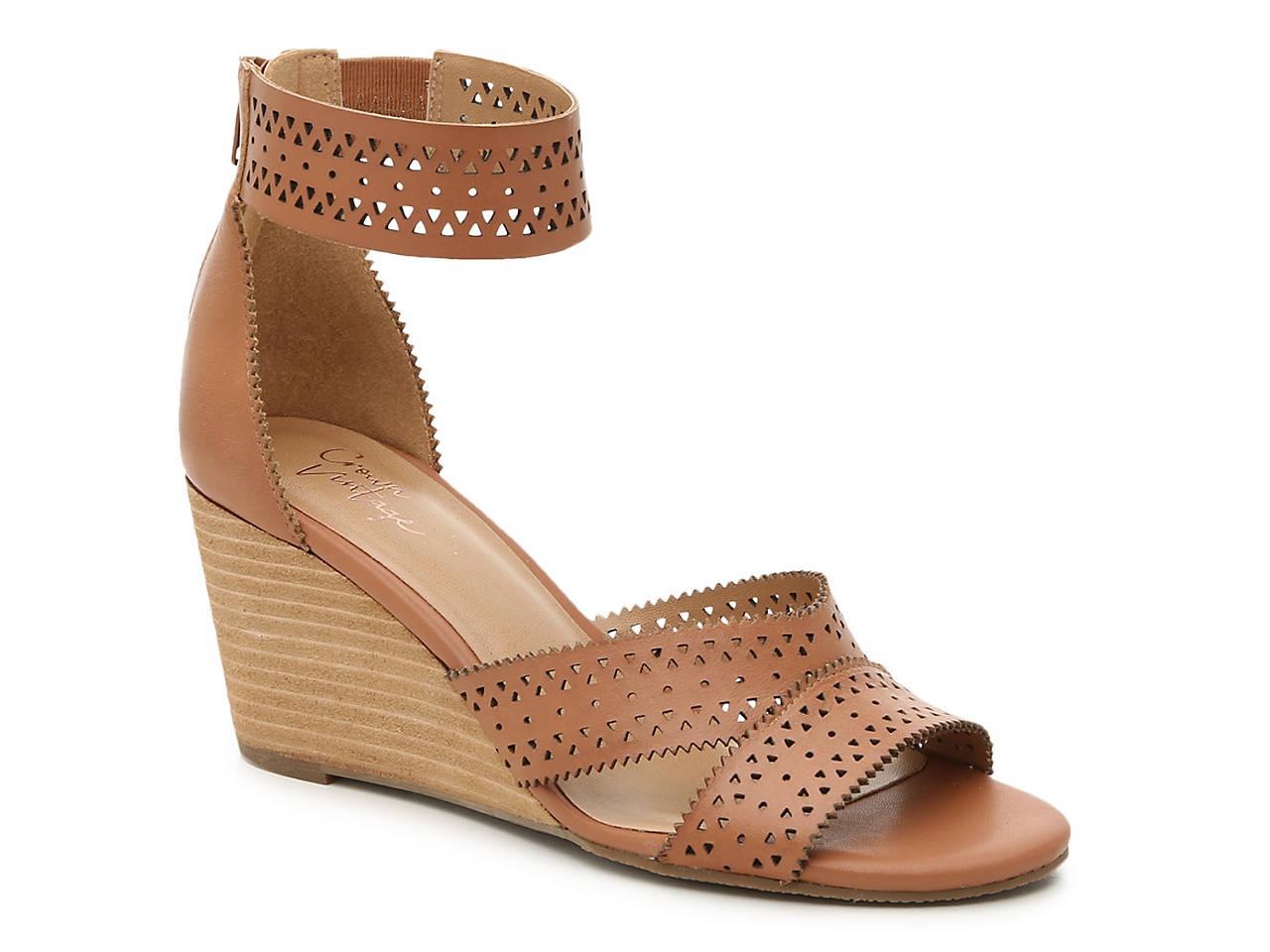 b56c290d59a Crown Vintage Carlie Wedge Sandal Women s Shoes