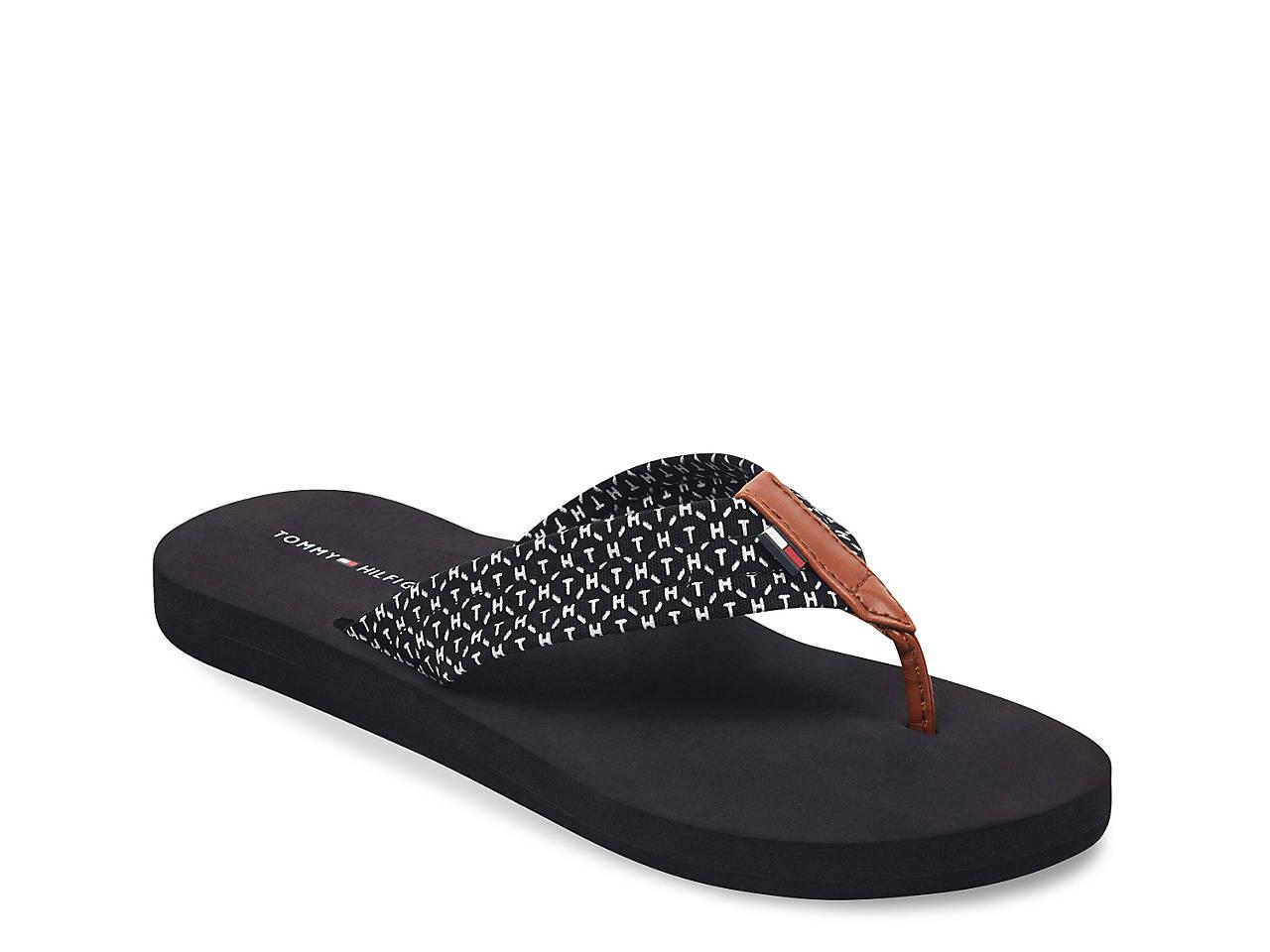 26c7a4a9c Tommy Hilfiger Cursive Flip Flop Women s Shoes