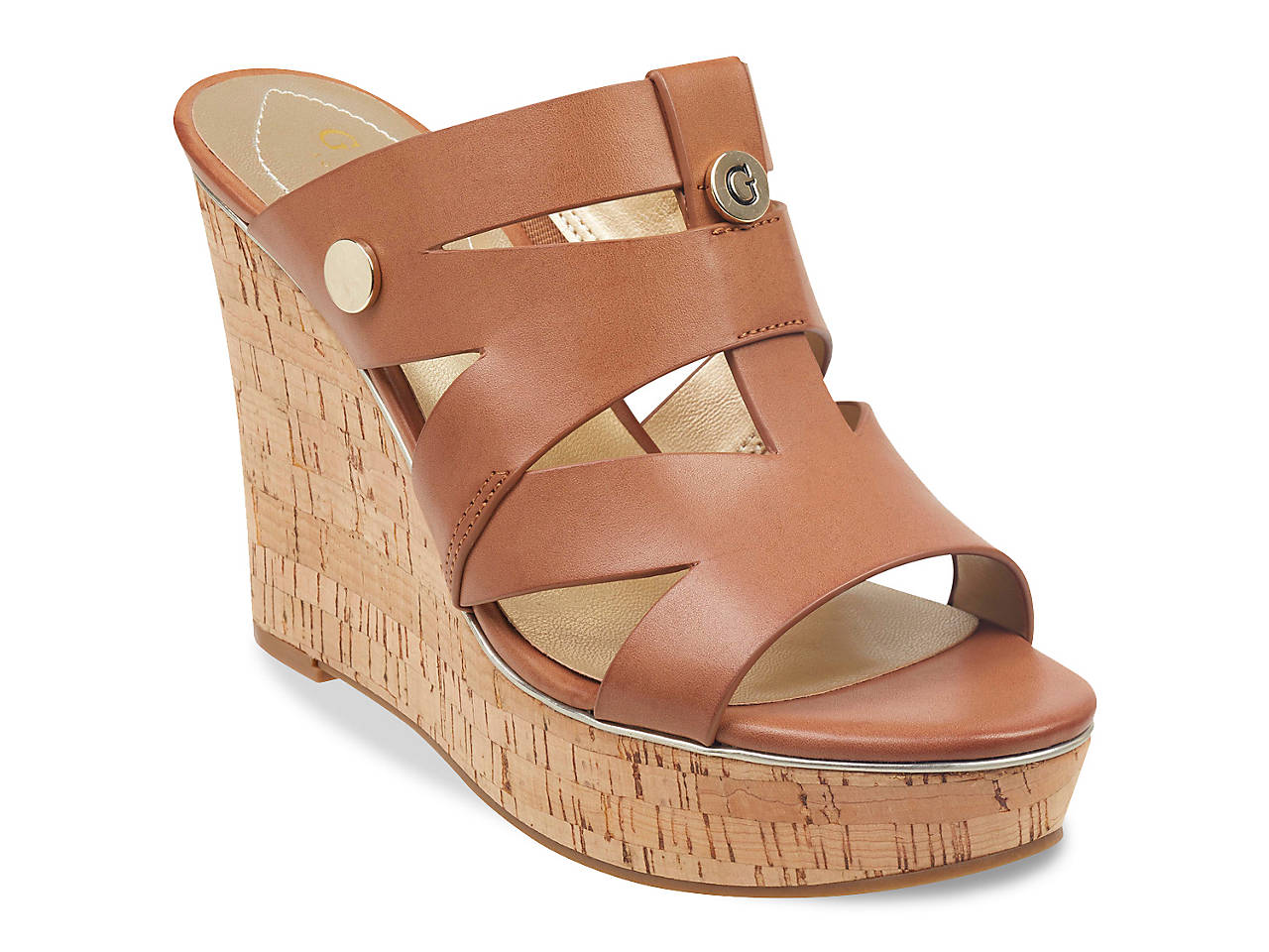 a63b17657 Guess Nextoo Wedge Sandal Women's Shoes | DSW